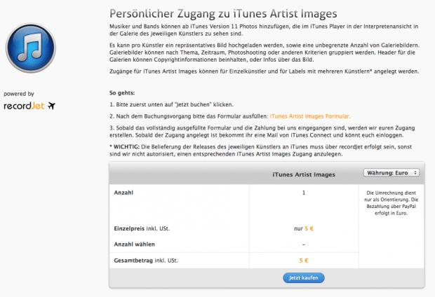 iTunes Artist Images   recordJet Service