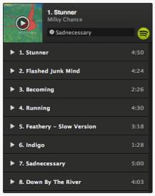 Spotify Play Button mit Milky Chance | recordJet Blog