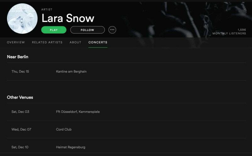 Lara Snow Tour   recordJet