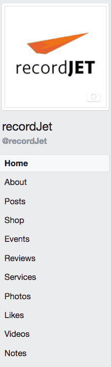 Facebook shop   recordJet