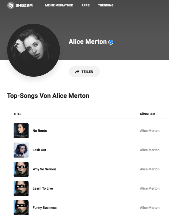 Alice Merton on Shazam